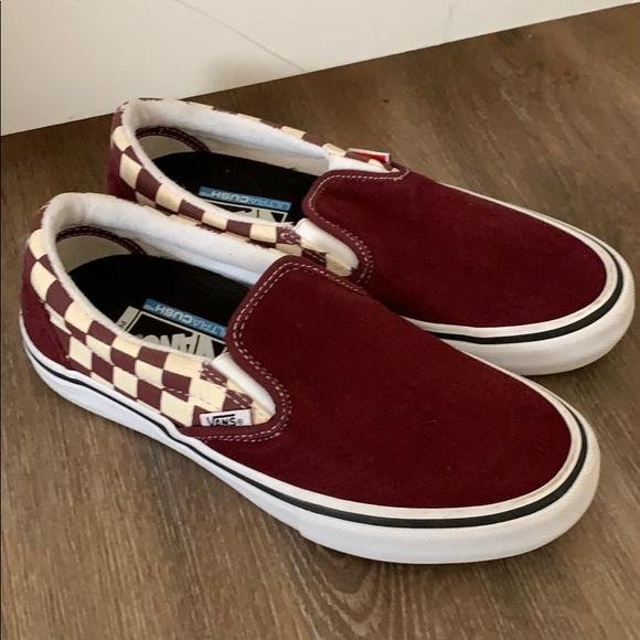 Vans Shoes | Burgundy Suedecheckered